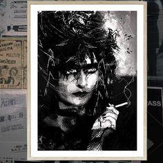 """Siouxsie"" - Canvas / Poster Print - PUNX.UK http://punx.uk/product/siouxsie-canvas-poster-print/"