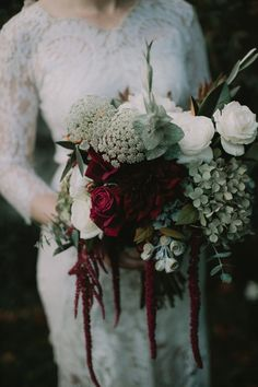 moody unstructured bouquet