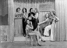 The cabaret girls at the Paradise Club in Regent Street, 1939.