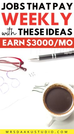Make $1000 per week with these legit online jobs that pay weekly! Online jobs that pay weekly and legit online jobs. #weeklyjobs #onlinejobs #workathomejobs #getpaidweekly Work From Home Options, Work From Home Careers, Work From Home Companies, Legit Work From Home, Online Jobs From Home, Legitimate Work From Home, Work From Home Opportunities, Work From Home Moms, Make Money From Home