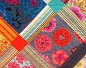 Queen Quilt With Kaffe Fasset Fabrics Bold and Beautiful / 2