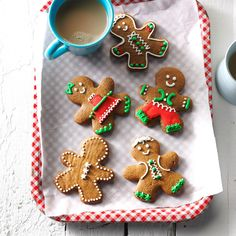 Gingerbread Men Cookies Recipe -No holiday cookie platter would be complete without gingerbread men! This is a tried-and-true recipe I'm happy to share with you.—Mitzi Sentiff, Annapolis, Maryland