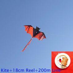 Envío de la alta calidad juguete volador flying bat cometa con la línea de mango al aire libre de nylon ripstop niños pulpo kite surf