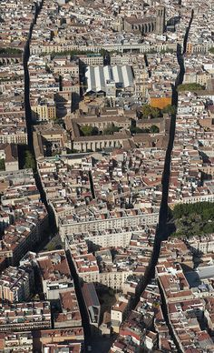 The Raval District With The Library Photograph