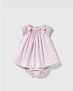 Vestido tipo body de bebé niña Dulces con estampado en tono azul                                                                                                                                                                                 Más