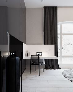Designed by Yevhen Zahorodnii & Sivak Trigubchak, this 180 square meter home offers some exciting inspiration. Fascinating decor stands out against its minimali