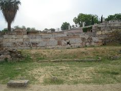 Remains of the Ancient City Wall of Athens in the Keramikos