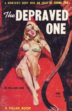Pulp International - Assorted vintage book covers featuring the alpha pose