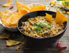 """Machos"" - Männer-Nachos mit Chili con Cheese Nachos, Buddha Bowl, Chili, Curry, Meat, Chicken, Ethnic Recipes, Food, Mexico"