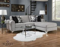 The Virginia Sectional features a Modernstyle whith a sophysticate Round Arms that gives your living room a modern and elegant look. Sectional Ottoman, Sleeper Sectional, Modern Sectional, Couches, Home Living Room, Living Room Furniture, Home Furniture, Furniture Stores, Best Sectionals