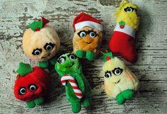 Vintage Plush Christmas Yumkins Del Monte by MissMyrtleVintage