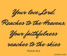 Psalm 36:5 | Bible Verses
