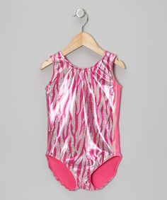 Hot Pink Zebra Foil Leotard - Toddler & Girls by lavalune on #zulily today! #gymnastics