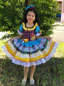 Blog La Pequetita: VESTIDOS DE FESTAS JUNINAS INFANTIS Pdf Patterns, Baby Love, Marie, Harajuku, Little Girls, Lily, Disney Princess, Cute, Blog