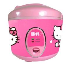 Make rice anytime, anywhere with this Hello Kitty rice cooker. It comes with a measuring cup, serving spoon and stay-cool handles, so you have everything you need to cook correctly and safely.    Features: Nonstick Coating  Includes: Measuring Cup, Serving Spoon, Instruction Manual  Material: Plastic  Safety and Security Features: Stay Cool Handles  Care and Cleaning: Dishwasher-safe Parts (Manila +S)