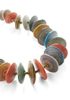 recycled paper beads ~~ love the flatter shape