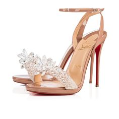 Crystal Queen 120 Nude Patent Leather - Women Shoes - Christian Louboutin f206ef76c
