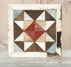 wooden barn quilt,  rustic quilt decor, farmhouse decor by IlluminativeHarvest…