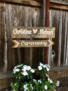 Wedding Directional Signs Wedding Signs by OneCoopedChick on Etsy