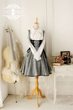 grey academy overall dress