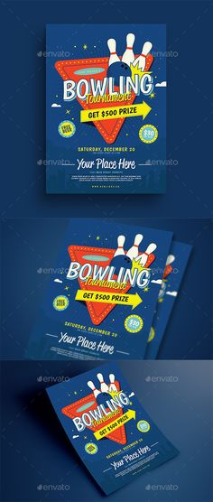 If you are searching for free PSD Party Flyer Templates, PSD Flyer - bowling flyer template