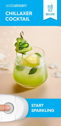 Take relaxation to the next level with our fizzy fresh, Chillaxer cocktail 👌 Green smoothies for all day energy Fancy Drinks, Bar Drinks, Non Alcoholic Drinks, Summer Drinks, Alcohol Drink Recipes, Infused Water Recipes, Fruit Infused Water, Cocktails, Cocktail Recipes