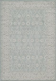 Momeni Rugs ZIEGLZE-08BLU2030 Ziegler Collection, Traditional Area Rug, 2' x 3', Blue