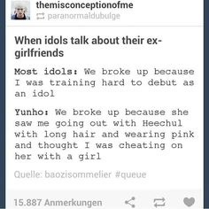 idols on breakups