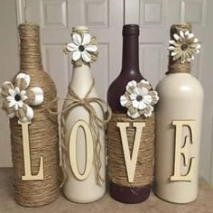 I make custom wine bottles. I can designs any color or style you would like Items similar to I make custom wine bottles. I can designs any color or style you would like. on Etsy Glass Bottle Crafts, Wine Bottle Art, Diy Bottle, Glass Bottles, Beer Bottle, Crafts With Wine Bottles, Twine Wine Bottles, Vodka Bottle, Wrapped Wine Bottles
