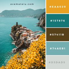 Terre, Italy Color Palette New Color Pallete on : Color Palette 57 🎨 Color Schemes Colour Palettes, Colour Pallette, Color Combos, Nature Color Palette, Colour Combinations Interior, Rustic Color Palettes, Color Harmony, Color Balance, Balance Design