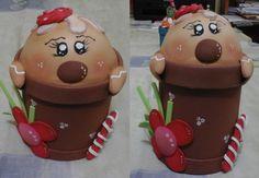 Frasco/caja de galleta navideña
