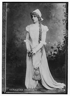 Geraldine Farrar.  American opera diva and silent film star, Geraldine Ferrar, was one of the most famous women in the world during the second decade of the 20th century. Beautiful, stylish, and possessed of enormous charisma, her presence mattered as much as her voice in her stardom.