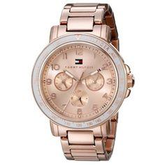 Relógio feminino Tommy Hilfiger com pulseira em aço rosé - 1781513