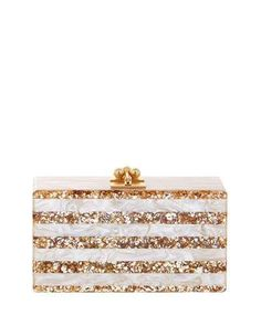 89812d3e0ea0 Edie Parker Jean Confetti-Striped Box Clutch Bag