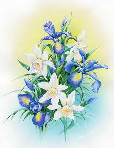 Акварельные цветы Ольги Дроздовой. Обсуждение на LiveInternet - Российский Сервис Онлайн-Дневников