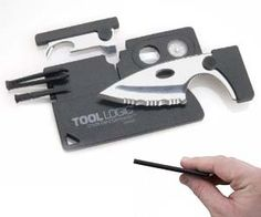 Don't forget to take this out of your pocket before you go on a plane. Credit card sized toolkit