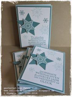 Stampin up ... Zauber der Weihnacht, Many Merry Stars