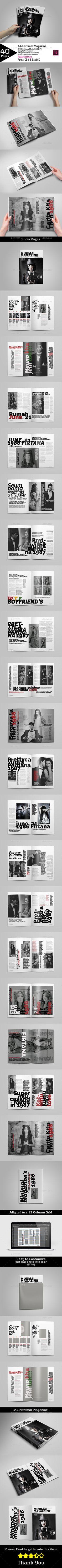 A4 Minimal Magazine Vol.2 - Magazines Print Templates