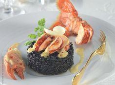 Civet+de+homard,+risotto+à+l'encre+de+seiche