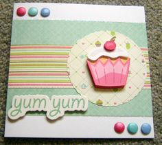 A decoupage cupcake card
