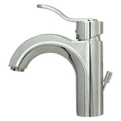 Whitehaus Collection Wavehaus Single Hole Bathroom Faucet with Single Handle Finish: Polished Chrome