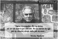 Żyłem, to wszystko. Źle czy dobrze, ale nie ode mnie... #Myśliwski-Wiesław, #Człowiek, #Dobro-i-sprawiedliwość, #Zło, #Życie Album, Words, Quotes, Inspiration, Literatura, Quotations, Biblical Inspiration, Quote, Shut Up Quotes