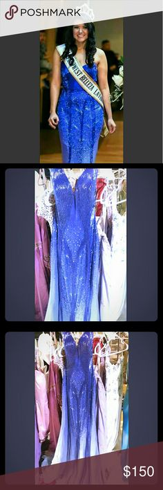 Purple Special Occasions Dress Size 6 ALYCE DESIGNS (Alyce Paris) Beautiful beaded top to bottom, Prom, Party, Pageant, Purple gown size 6, fits true to size, worn twice, original price $690 asking $150 or best offer, feel free to ask any questions Alyce Paris Dresses Strapless