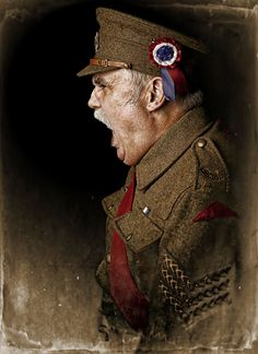 "Portrait of a WW1 soldier called ""Sgt Riley"" Part of an exhibition of 16 images in total."