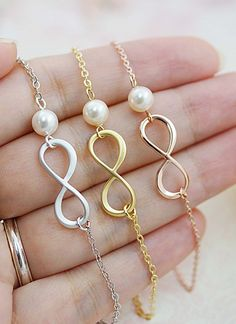 Infinity necklaces. I'll take one of each, please!