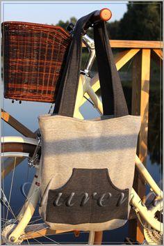 torba z dresóski szara melanżowa