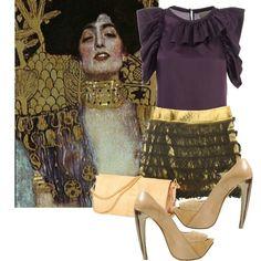 dress like your favorite painting! Gustav Klimt, created by georgina-m.polyvore.com