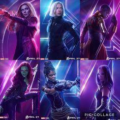 The leading ladies of Infinity War.