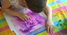 Simple Letter Writing Activity -- hair gel in a zip top bag #ece #preschool