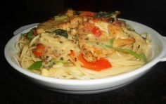 My Cooking Experiment Creamy Chicken Pasta, Experiment, Spaghetti, Meat, Cooking, Ethnic Recipes, Food, Kitchen, Essen